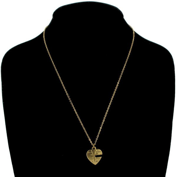 Ky & Co Pendant Key To My Heart Sweetheart Necklace Tiny Small Love Gold Tone