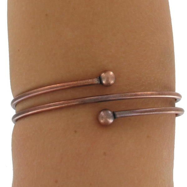 Ky & Co Upper Arm Bracelet Copper Ox Tri Tone Armlet Sprial Size XL Large USA Made