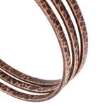 Ky & Co Set of 3 Bangle Bracelets Copper Ox Tone Thin Hammered USA Made Thumbnail 2