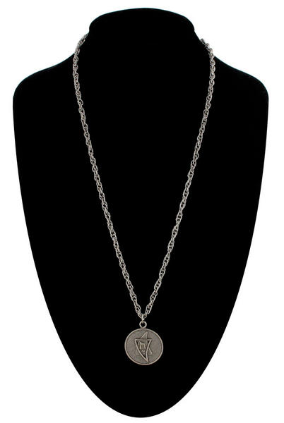 Ky & Co Pendant Necklace Jewish Hebrew Chai To Life Silver Tone Coin Charm USA