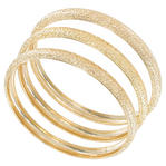 Ky & Co Bangles Bracelet Gold Tone Set Of 3 Textured Sparkle Made In USA Thumbnail 1