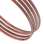 Ky & Co Bangle Bracelet Copper Ox Tone Sussex Metal Thin USA Set 4 Xl Thumbnail 2