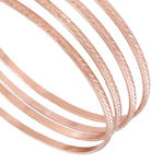 Ky & Co Bangle Bracelet Rose Gold Tone Thin Xl Large Made In USA Set 4 Cambridge Thumbnail 2