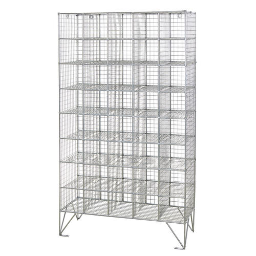 mesh shelving systems wire mesh locker with 40 compartments shelving industrial storage 1360h x 775w ebay 4283