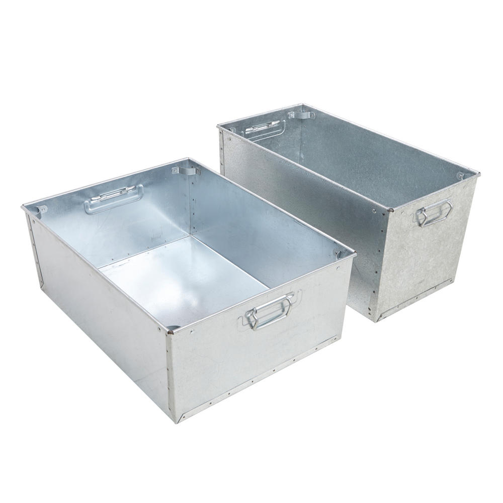 Galvanised Steel Stacking Work Pans Small
