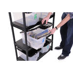 Plastic Recycling Shelving Kit With 8 Boxes Thumbnail 2
