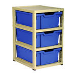 Gratnells 3 Tray Storage Units Thumbnail 1