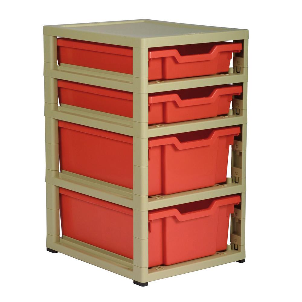 Gratnells 4 Tray Storage Units (2 Deep U0026 2 Shallow)