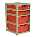 Gratnells 4 Tray Storage Units (2 Deep & 2 Shallow)