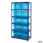 Shelving Storage Bays With Plastic Boxes Thumbnail 2