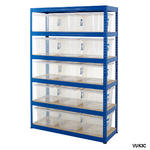 Shelving Storage Bays With Plastic Boxes Thumbnail 7
