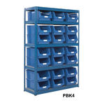 Shelving Storage Bays With Plastic Bins Thumbnail 4