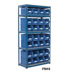 Shelving Storage Bays With Plastic Bins Thumbnail 6