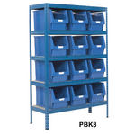 Shelving Storage Bays With Plastic Bins Thumbnail 8