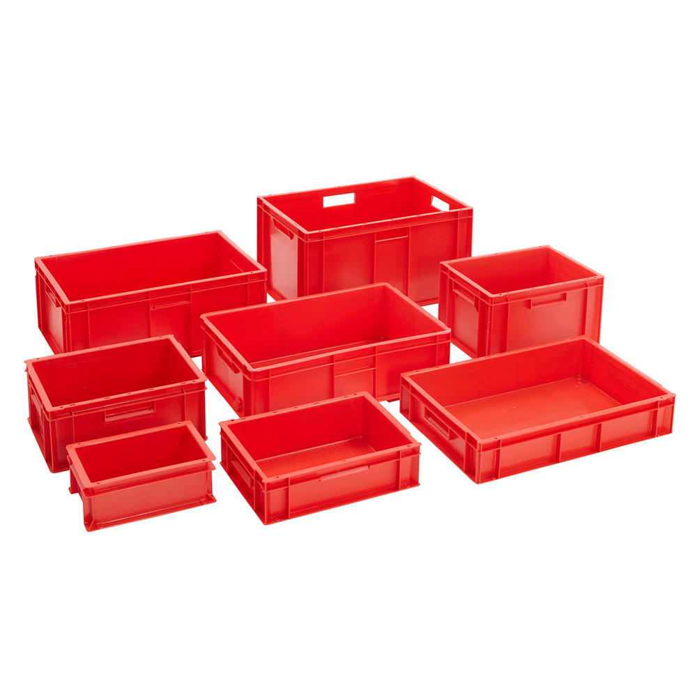 Red Euro Stacking Containers