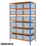 1220mm Wide Shelving Kits With Euro Containers Thumbnail 2