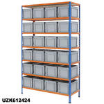 1220mm Wide Shelving Kits With Euro Containers Thumbnail 6