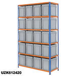 1220mm Wide Shelving Kits With Euro Containers Thumbnail 7