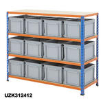 1220mm Wide Shelving Kits With Euro Containers Thumbnail 8