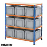 915mm Wide Shelving Kits With Euro Containers Thumbnail 3