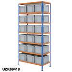 915mm Wide Shelving Kits With Euro Containers Thumbnail 4