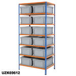 915mm Wide Shelving Kits With Euro Containers Thumbnail 9