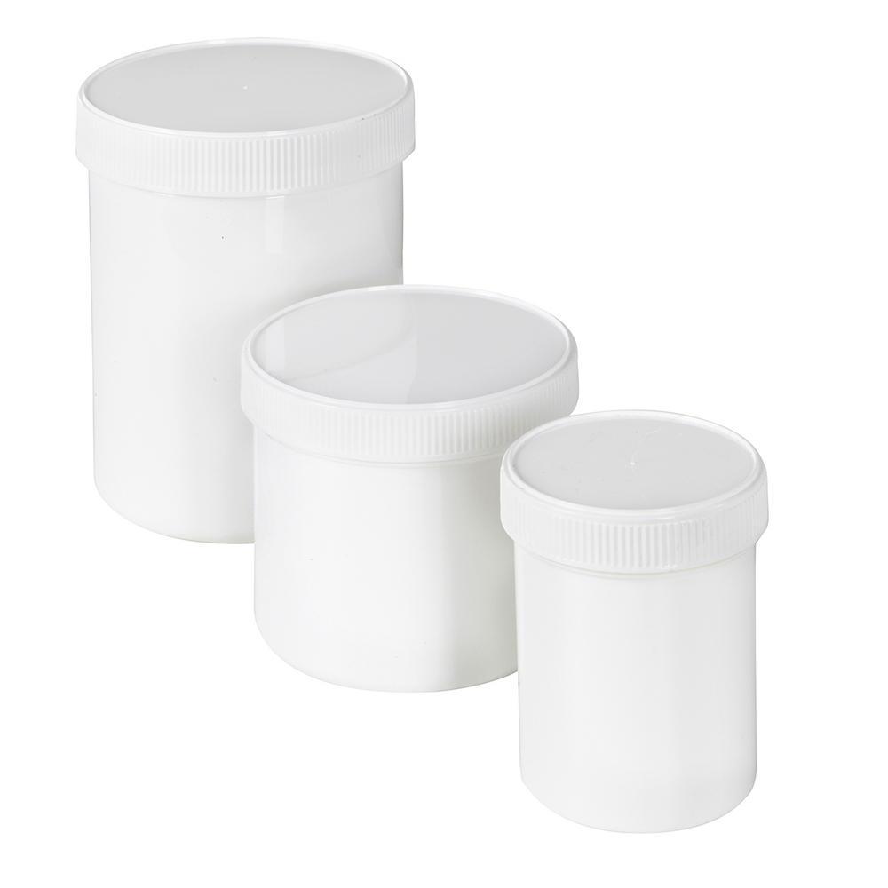 Plastic Screw Cap Jars
