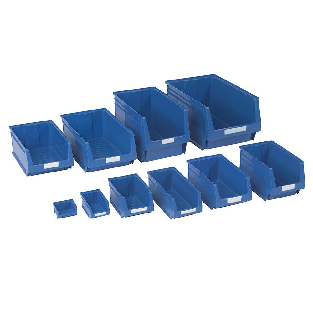 Blue Plastic Parts Bins