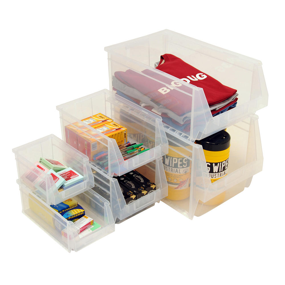 Clear Plastic Parts Bins