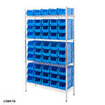 Chrome Shelving Bin Kits Thumbnail 3