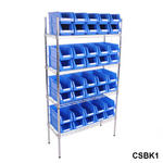 Chrome Shelving Bin Kits Thumbnail 2