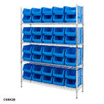 Chrome Shelving Bin Kits Thumbnail 7