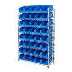 Chrome Slanted Shelving Bin Kits