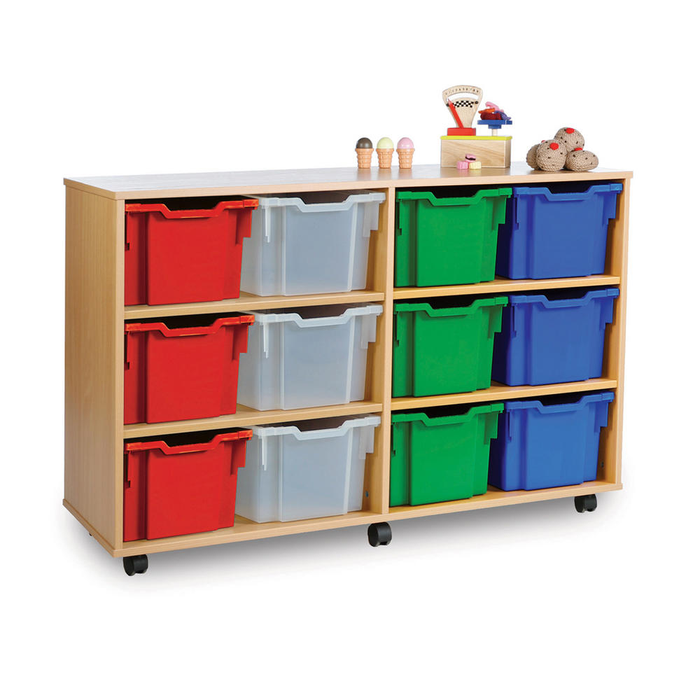 Gratnells 12 Extra Deep Tray Wooden Units
