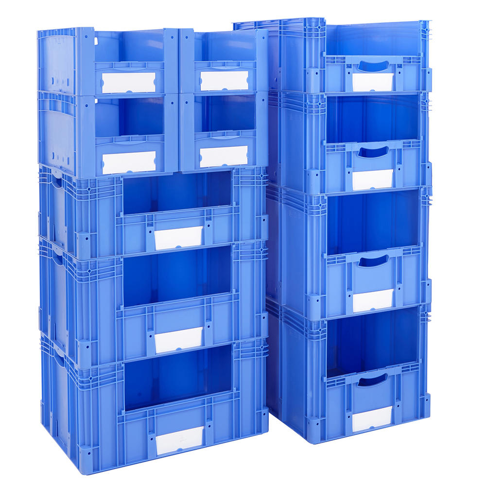 Euro Stacking Pick Bin Columns With Side Opening 600mm Depth