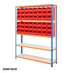 Blue & Orange Shelving With Plastic Bins Kits Thumbnail 3