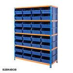 Blue & Orange Shelving With Plastic Bins Kits Thumbnail 6