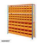Blue & Orange Shelving With Plastic Bins Kits Thumbnail 7