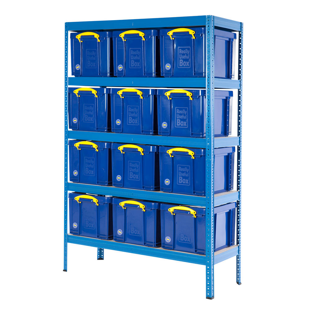 Industrial Bay With 35 Litre Really Useful Boxes