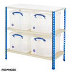 Shelving Bay With 4x 35 Litre Really Useful Boxes Thumbnail 3