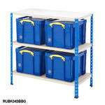 Shelving Bay With 4x 35 Litre Really Useful Boxes Thumbnail 5