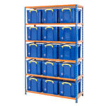 Shelving Bay With 15x 35 Litre Really Useful Boxes