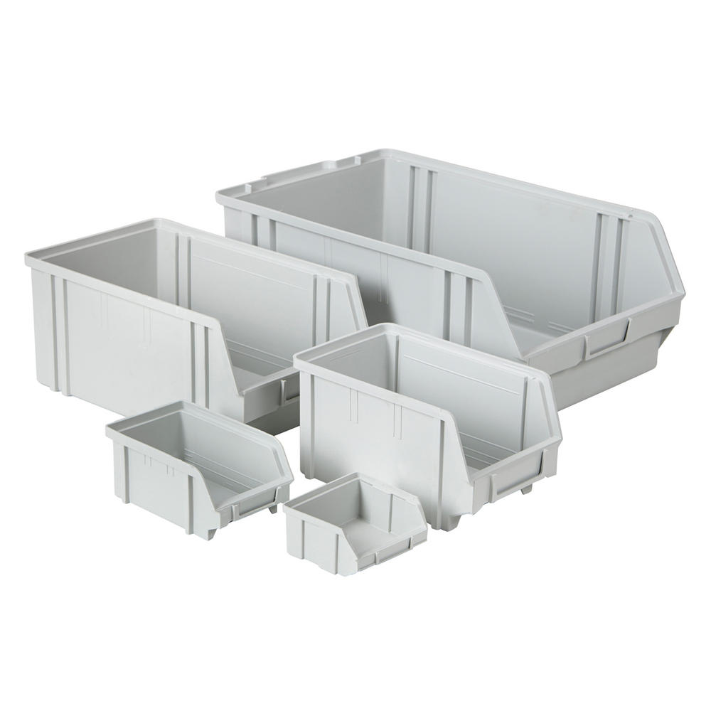 Value Plastic Parts Bins Light Grey